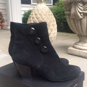 Vaneli black suede booties.  Never worn.